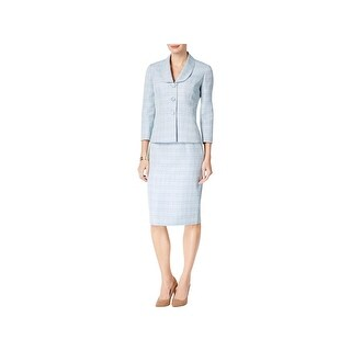 Le Suit Womens Petites Skirt Suit 2PC Pencil