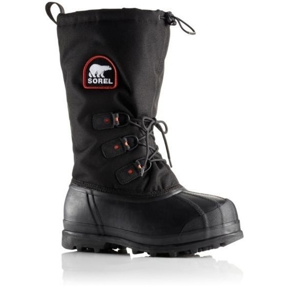 Sorel Glacier XT, Women's -73C/-100F Rated Winter Boots - Black/Red
