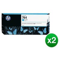 HP 764 300-ml Cyan DesignJet Ink Cartridge (C1Q13A) (2-Pack)