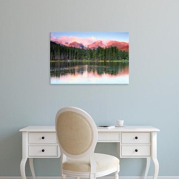 Easy Art Prints Michel Hersen's 'Sunrise Reflections On Sprague Lake' Premium Canvas Art