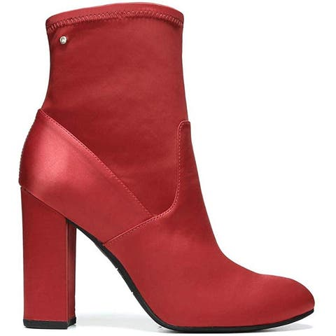 Circus by Sam Edelman Womens carinda Satin Almond Toe Ankle Fashion Boots