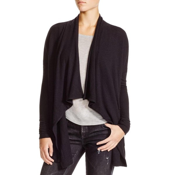 Velvet Womens Cardigan Sweater Open Front Draped