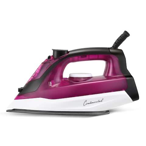 Continental Non-Stick Iron with Steam/Spray Auto Shut Off Purple