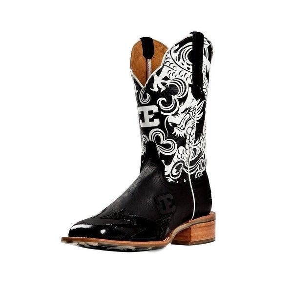 Cinch Western Boots Mens Cowboy Edge Year of the Dragon Black