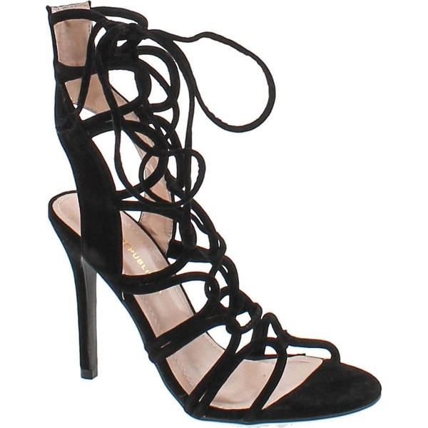 Shoe Republic La Key West Strappy Heels - Black