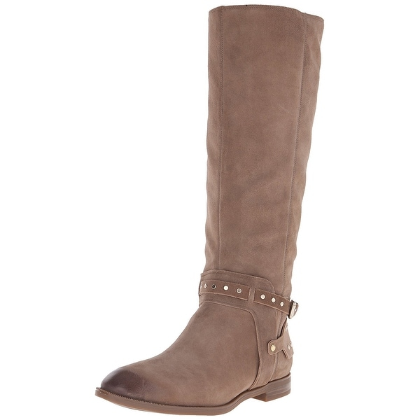 Nine West Womens Luciana Leather Almond Toe Knee High Fashion Boots