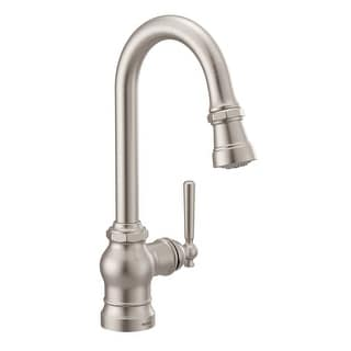 Moen S52003  Paterson 1.5 GPM Single Hole Pull Down Bar Faucet with Duralast Cartridge and Reflex, PowerClean, and Duralock