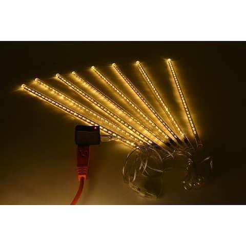 AGPtek 8pcs 50cm Tube Colorful Meteor Shower Rain Lights Snowfall Light for Wedding Party Christmas Decor cool White - S