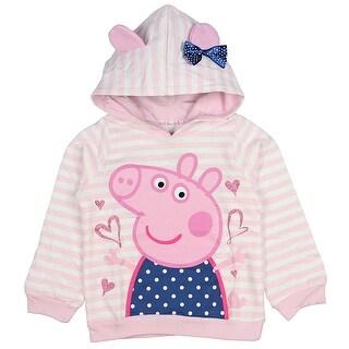 Peppa Pig Little Girls Toddler Lightweight Pullover Hoodie