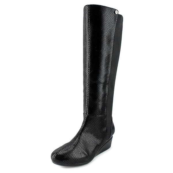 J. Renee Valik Women Round Toe Leather Knee High Boot