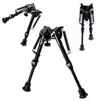 Costway Hunting Rifle Bipod 6'' to 9'' Adjustable Spring Return Sniper Sling Swivel Mount - Black