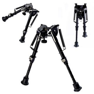 Costway Hunting Rifle Bipod 6'' to 9'' Adjustable Spring Return Sniper Sling Swivel Mount