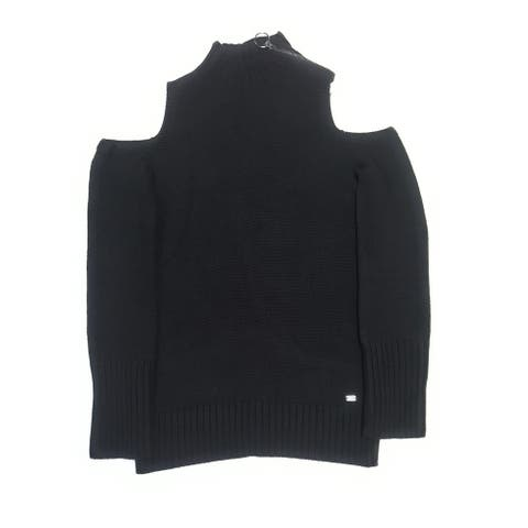 DKNY Turtle Neck Shoulder Zipper Pullover