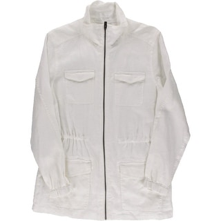 Tommy Bahama Mens Linen Zip Front Casual Shirt - M