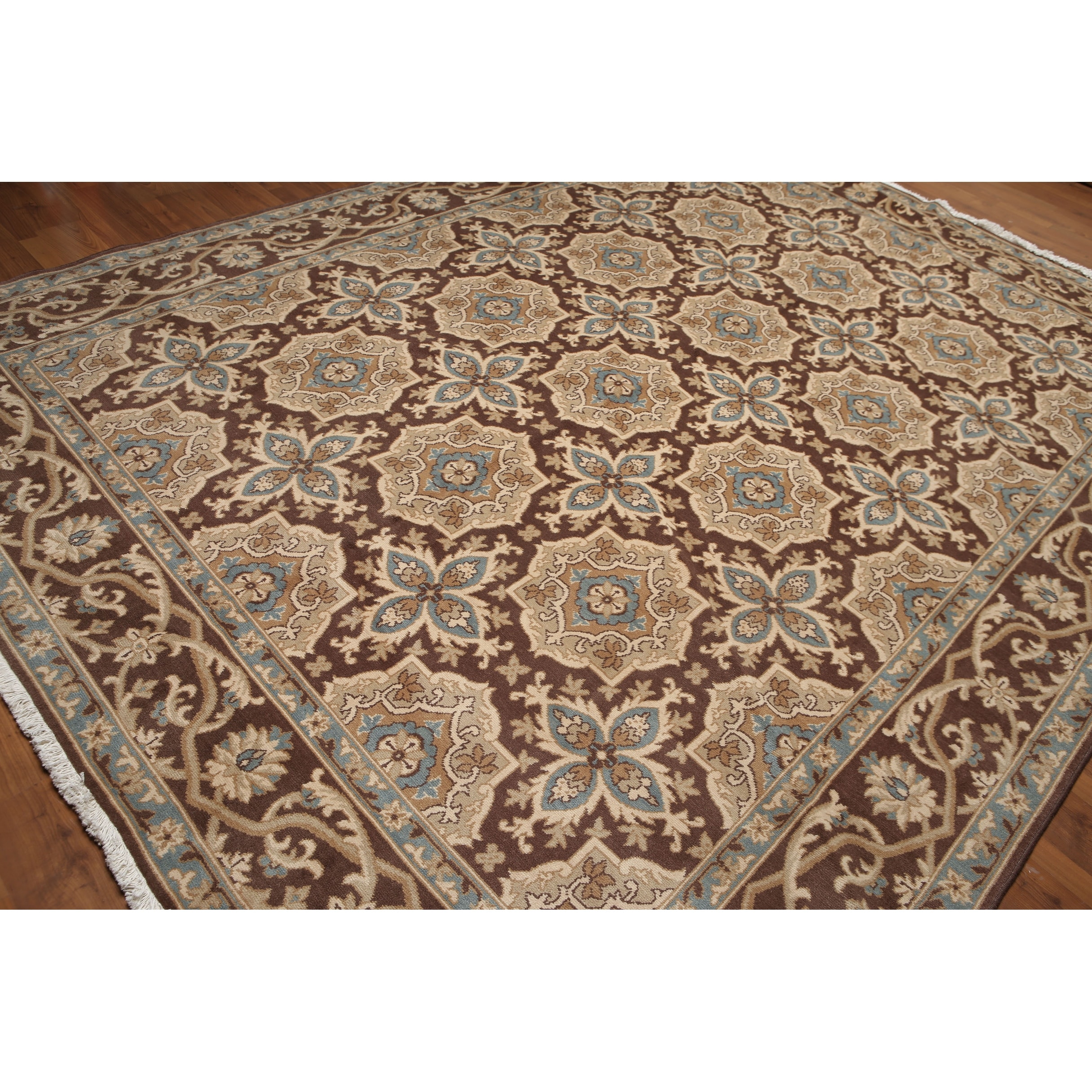 Beige Brown Gray Turquoise Multi Oriental Rug Wool Traditional Oriental Area Rug 9x12 9 X 12 Overstock 31302209