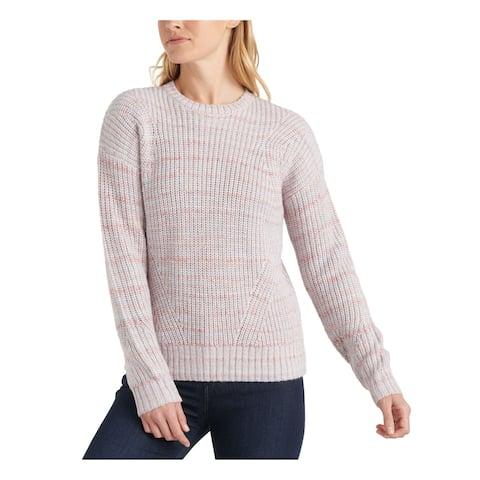 LUCKY BRAND Pink Long Sleeve Blouse Straight leg Sweater S