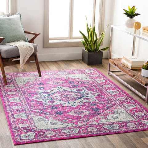 The Curated Nomad Lynton Vibrant Persian Medallion Area Rug