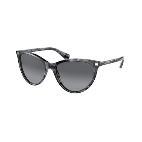 Ralph RA5270 5888T3 55 Shiny Spotted Black Havana Woman Butterfly Sunglasses