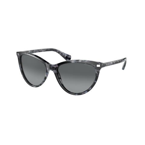 Ralph RA5270 5888T3 55 Shiny Spotted Black Havana Woman Butterfly Sunglasses