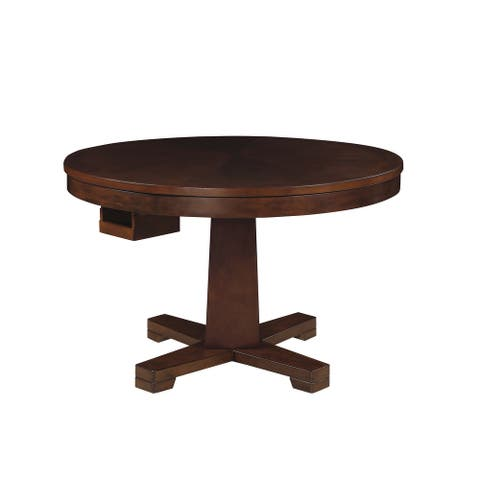 Holbrook Tobacco Game Table with 8 Cupholders