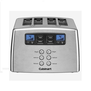 Cuisinart Touch to Toast Leverless 4-Slice Toaster (Chrome) - Refurbished