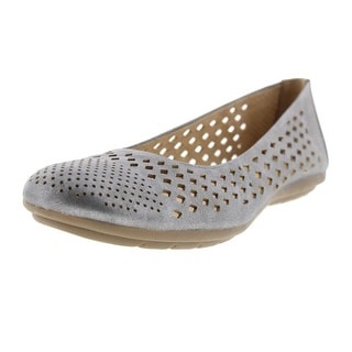 Naturalizer Womens Uncover Round Toe Cut-Out Ballet Flats