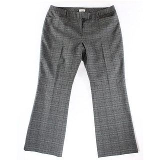 Tahari By ASL NEW Gray Women's Size 14 Plaid Trousers Dress Pants