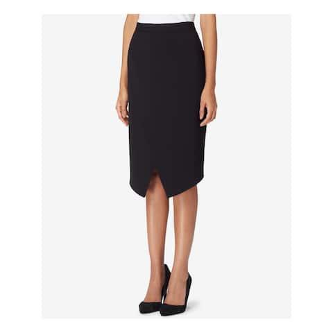 TAHARI Black Knee Length Pencil Skirt Size 16