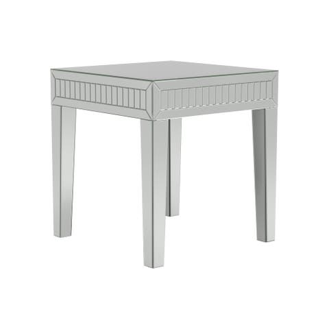 Whitfield Silver Square End Table