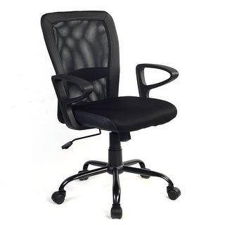 Costway Modern Ergonomic Mesh Medium Back Office Chair Executive Computer Desk Task