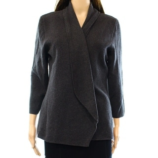 Alfani NEW Gray Women Medium M Shawl Collar Open Front Cardigan Sweater