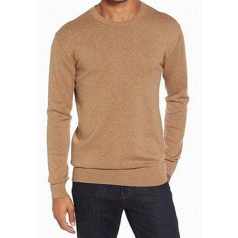 French Connection Mens Sweater Brown Size Small S Crewneck Pullover