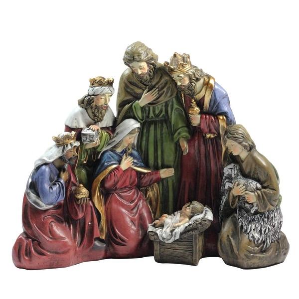 "17.75"" Large 1-Piece Religious Christmas Nativity Scene"
