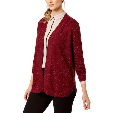 Karen Scott Womens Cardigan Sweater Open Front Long Sleeve