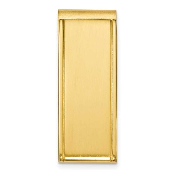 Chisel Gold Plated Brushed and Polished Stainless Steel Money Clip