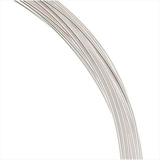 Beadalon Silver Filled Wire, Half Hard / Round 20 Gauge Thick, 0.5 Ounces, Silver