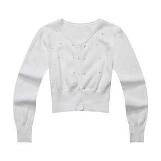 Richie House Little Girls White Hot Drillings Sweet Cardigan Sweater 3-6|https://ak1.ostkcdn.com/images/products/is/images/direct/c7a37457f075c013989088704d7af22ea41aa483/Richie-House-Little-Girls-White-Hot-Drillings-Sweet-Cardigan-Sweater-3-6.jpg?_ostk_perf_=percv&impolicy=medium