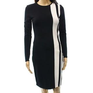 Lauren Ralph Lauren NEW Black White Women's Size Small S Sweater Dress