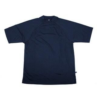PGA TOUR Men's Tee Shirt - Navy Solid - Large