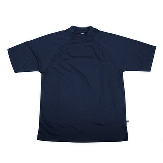 PGA TOUR Men's Tee Shirt - Navy Solid - Small