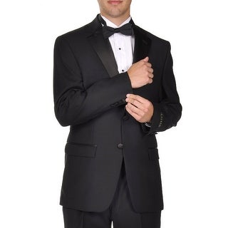 Ralph Lauren Men's Super 100's Wool Two Button Black Tuxedo