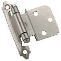 Amerock BP3428 3/8 Inch Overlay Traditional Cabinet Door Hinge with Self Close Function - Pair