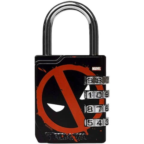 Performa Ultra Premium Embossed 4-Dial Combination Gym Lock - Deadpool - One Size