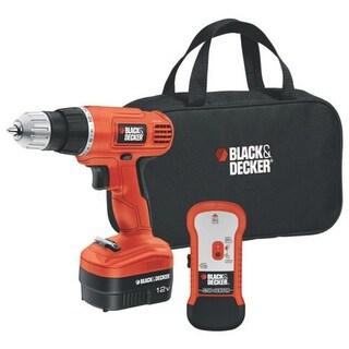 Black & Decker GCO12SFB Drill/Driver with Stud Sensor & Storage Bag, 12 Volt