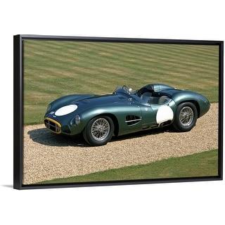 """1957 Aston Martin DBR2 4.2 litre V12 sports racing 2-seater"" Black Float Frame Canvas Art"
