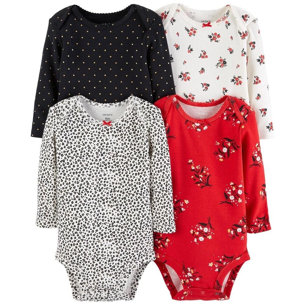 Carter/'s Baby Girls/' 3-pk Bodysuit Polka Dot 3 Months