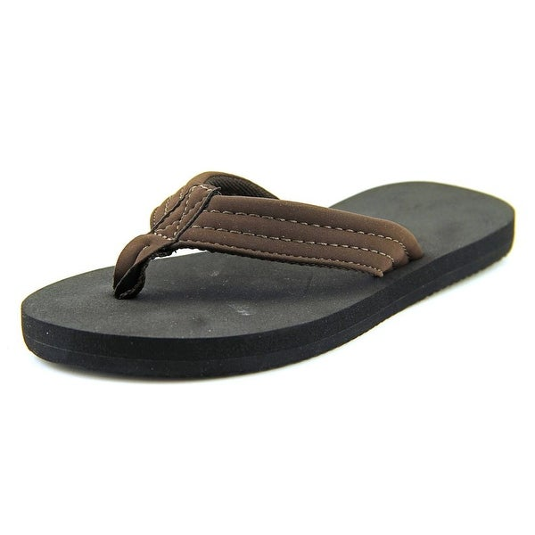 Rainbow 101 Youth  Open Toe Synthetic Brown Flip Flop Sandal