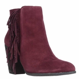 Vince Camuto Hayzee Fringe Ankle Boots - Deep Sugar Plum