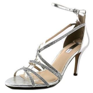 INC International Concepts Gemm Women Open-Toe Synthetic Silver Heels