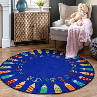Link to nuLOOM Blue Contemporary Alphabet Kids Area Rug Similar Items in Kids' & Toddler Furniture